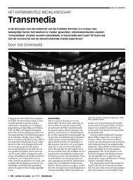 Syb Groeneveld – Transmedia. Het experimentele ... - Mediafonds