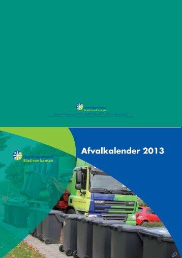 De afvalkalender 2013, PDF 9391kB - Gemeente Heerhugowaard