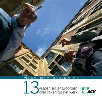 vragen en antwoorden over roken op het werk - ACV
