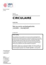 CIRCULAIRE - Het VBO - De stem van de ondernemingen in België