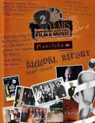 2007/2008 Annual Report - Manitoba Film and Music