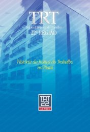 Livro comemorativo dos 15 anos do TRT - Tribunal Regional  do ...