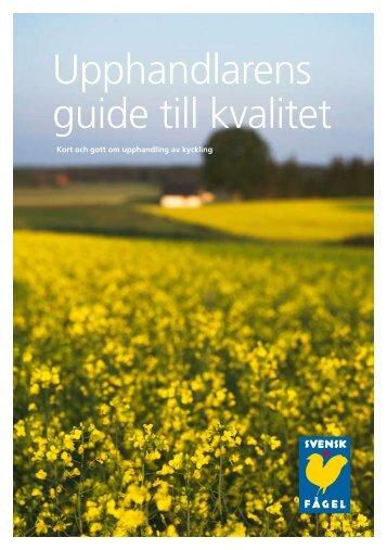 Upphandlarens guide till kvalitet (.pdf) - Svensk Fågel