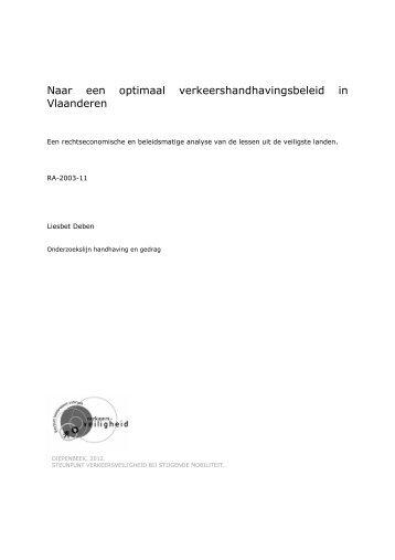 Naar een optimaal verkeershandhavingsbeleid in Vlaanderen