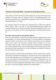 Beratung im Drei-Partner-Modell – Der Nutzen für ... - BIT - Bund.de