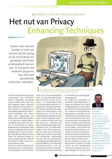 Het nut van privacy enhancing techniques