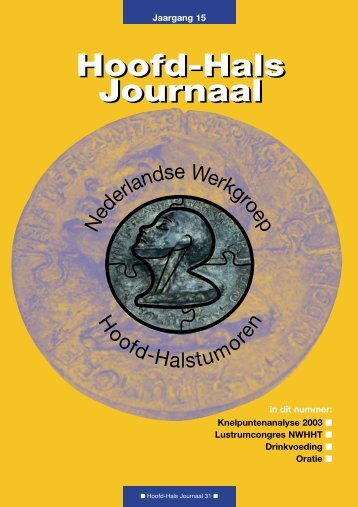 Hoofd-Hals Journaal Hoofd-Hals Journaal - NWHHT