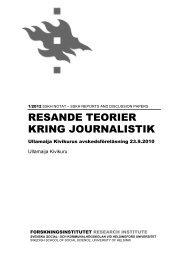 Notat som pdf-fil - och kommunalhögskolan - Helsinki.fi