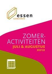 nr. 547 - zomeractiviteiten 2012 - Gemeente Essen