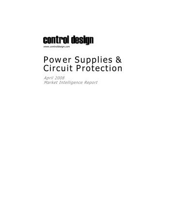Power Supplies & Circuit Protection - Control Design