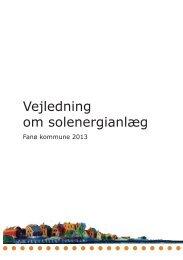Vejledning om solenergianlæg - Fanø Kommune
