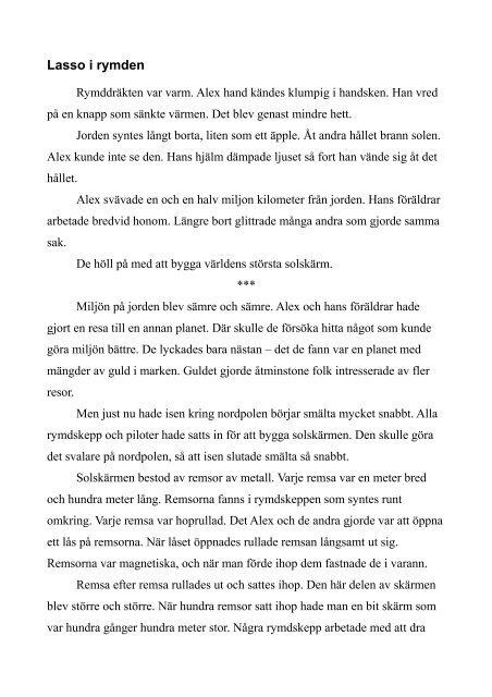 Lasso i rymden - Sigge.eu Publishing