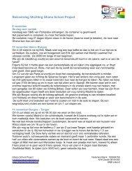 Reisverslag deel 1 (9 november 2009 tot en met 14 november 2009)