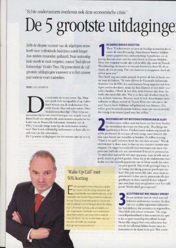 De vijf grootste uitdagingen voor 2010 - Guido Thys