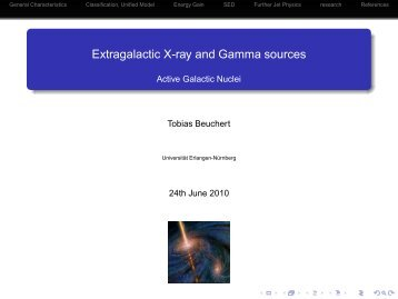 Extragalactic X-ray and Gamma sources - Radio Observations of ...