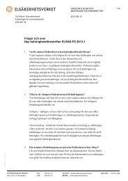 Frågor och svar Nya behörighetsföreskrifter ... - Elsäkerhetsverket