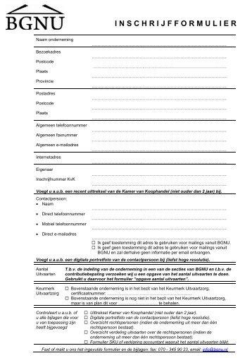 Infoset voor uitvaartondernemingen - BGNU