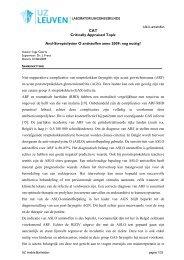 Laboratorium benaming: - UZ Leuven