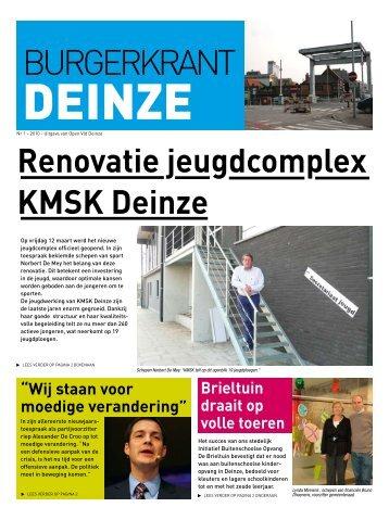 Burgerkrant nr 1 - 2010 - Open VLD - Deinze