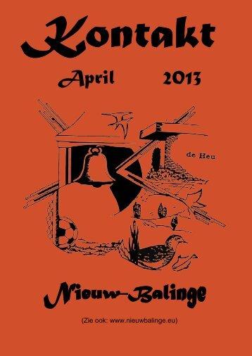 April 2013 - Kontakt