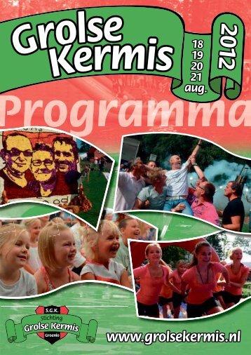 Programmaboek 2012 - Grolse Kermis
