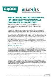 Peter Garré - Nieuwe economische impulsen via het verleggen van ...