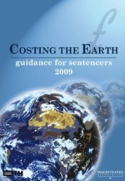 Costing the Earth - The Magistrates' Association