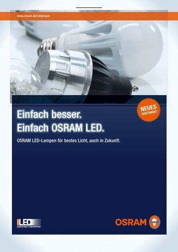 Einfach besser. Einfach OSRAM LED. - LED Lampen