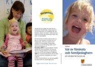 Val av förskola och familjedaghem - Tyresö kommun