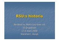 RSU:s historia