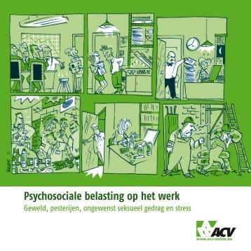 Psychosociale belasting op het werk - acvtje