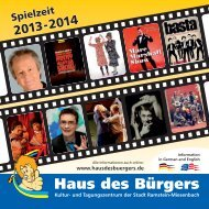 Programmheft 2013/2014 - Haus des Bürgers