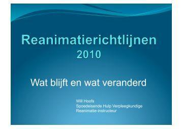 reanimatie richtlijnen 2010 - Lviz