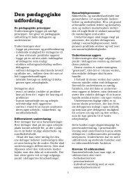 Den pædagogiske udfordring - BAR Bygge & Anlæg