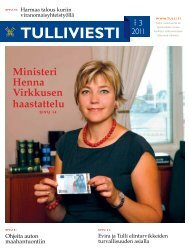 Tulliviesti 3/2011 (pdf)
