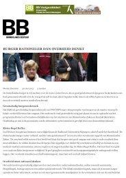 BURGER RATIONELER DAN OVERHEID DENKT - Crisislab