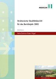 Qualitätsbericht 2005 - MediClin Reha-Zentrum Roter Hügel