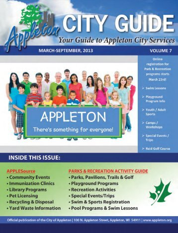 Current City Guide - Appleton Parks & Recreation