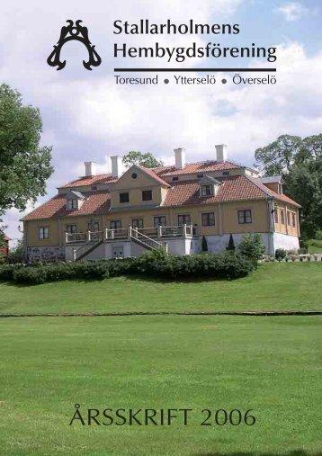 2006 - Stallarholmens Hembygdsförening