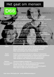 deze link - D66 Bloemendaal