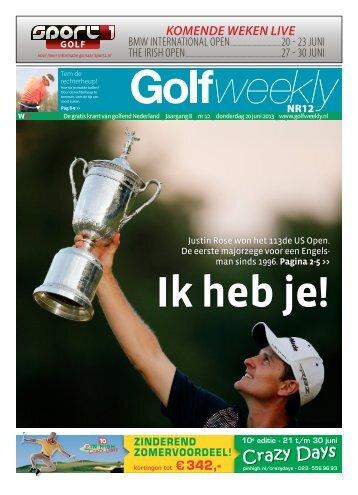 Golf Weekly 2013 editie 12