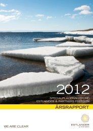 Årsrapport 2012 - Estlander & Partners
