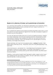 Orientering om reglerne for udlejning af fartøjer ... - Gudenåkomiteen