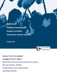 Katrien Dox - Master Politieke Communicatie