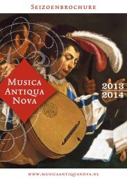 Download hier de seizoenbrochure 2013-2014 - Musica Antiqua Nova