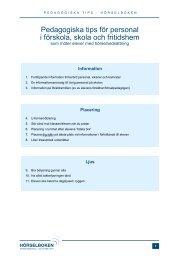 Pedagogiska tips för personal i förskola, skola och fritidshem