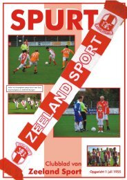 Spurt – Juni 2012 - Jaargang 57 - Nr. 5 - Zeeland Sport