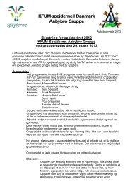 Beretning ved gruppemøde 2013 - Spejderne Aabybro Gruppe
