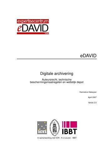 Digitale archivering - Auteursrecht, technische - eDAVID