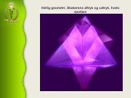 Hellig geometri, Skaberens aftryk og udtryk, livets opståen - Alcyone